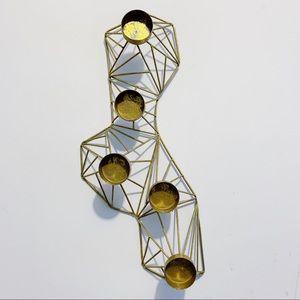 Vtg Mid Century Modern Geometric Tea Light Holder
